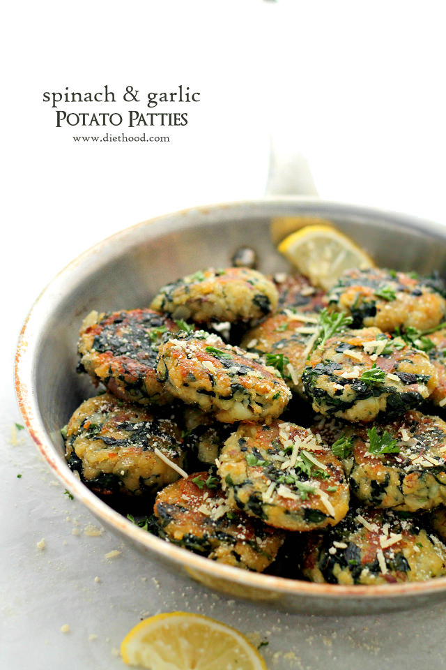 spinach-and-garlic-potato-patties