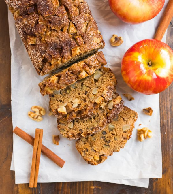 Healthy cinnamon apple bread that tastes just like traditional amish bread