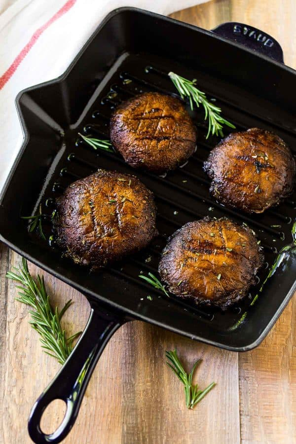 How to cook a portobello mushroom on the grill. Easy recipe that's delicious every time!