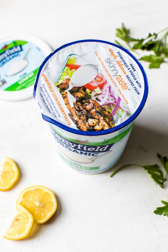 Stonyfield yogurt container