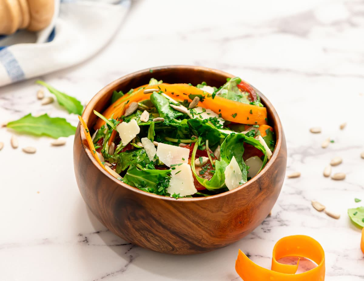 A healthy side dish in a wooden bowl