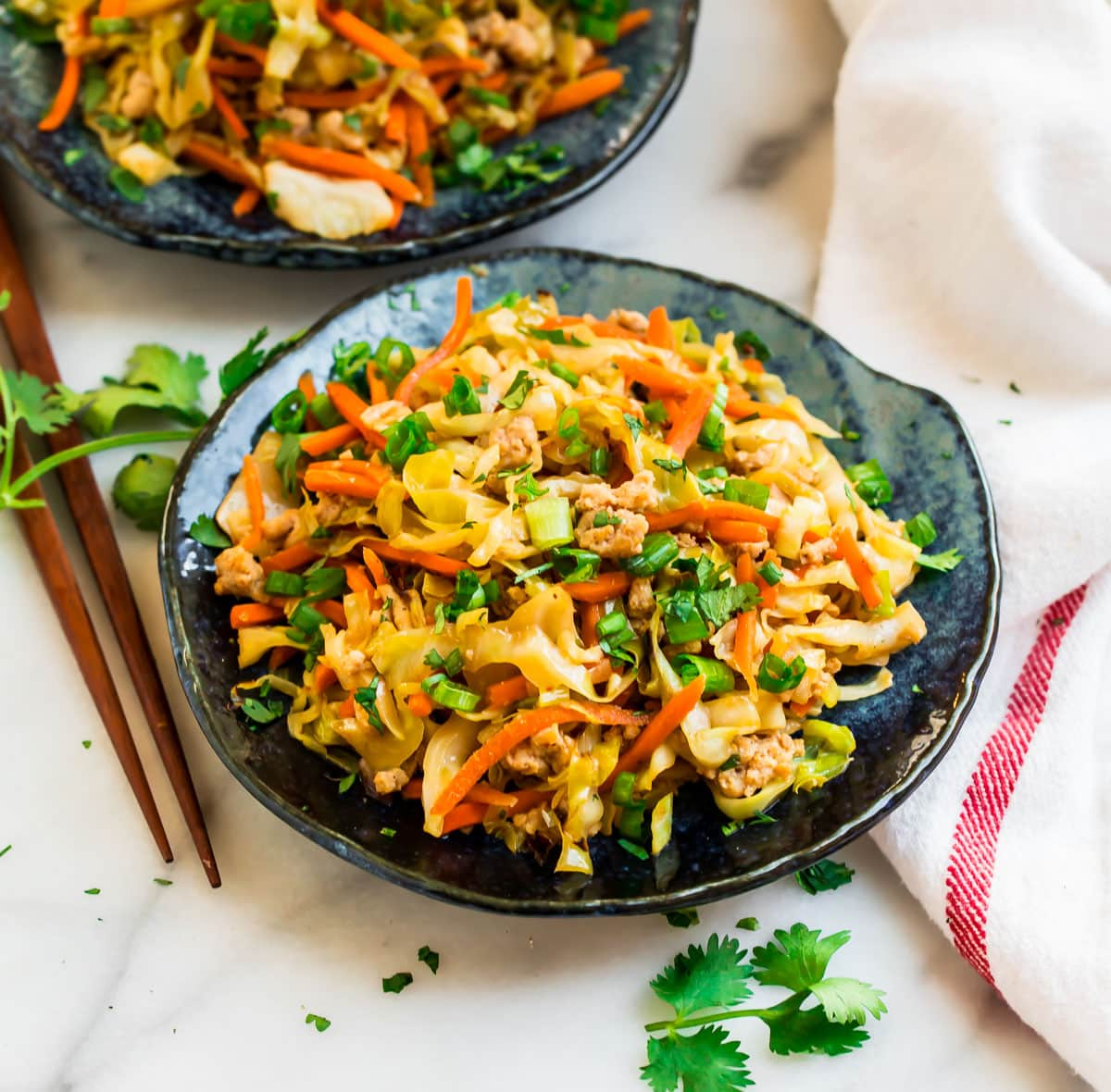 Easy cabbage stir fry with chicken