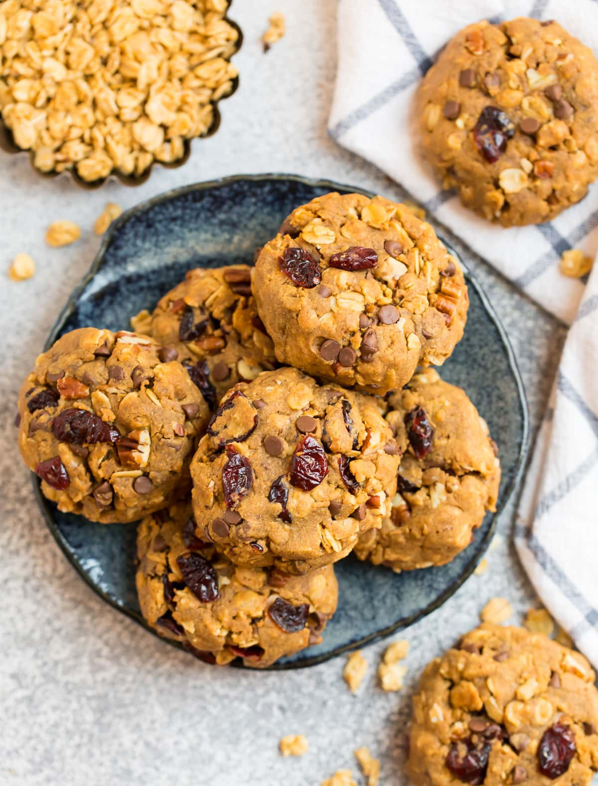 Granola cookies on a plate