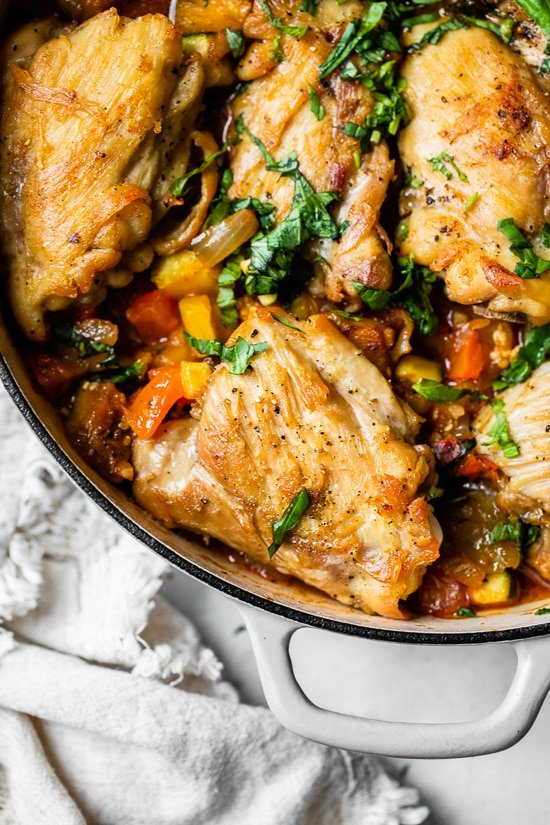 Ratatouille Baked Chicken takes a classic French dish and turns it into a family-friendly comfort food dish loaded with veggies.