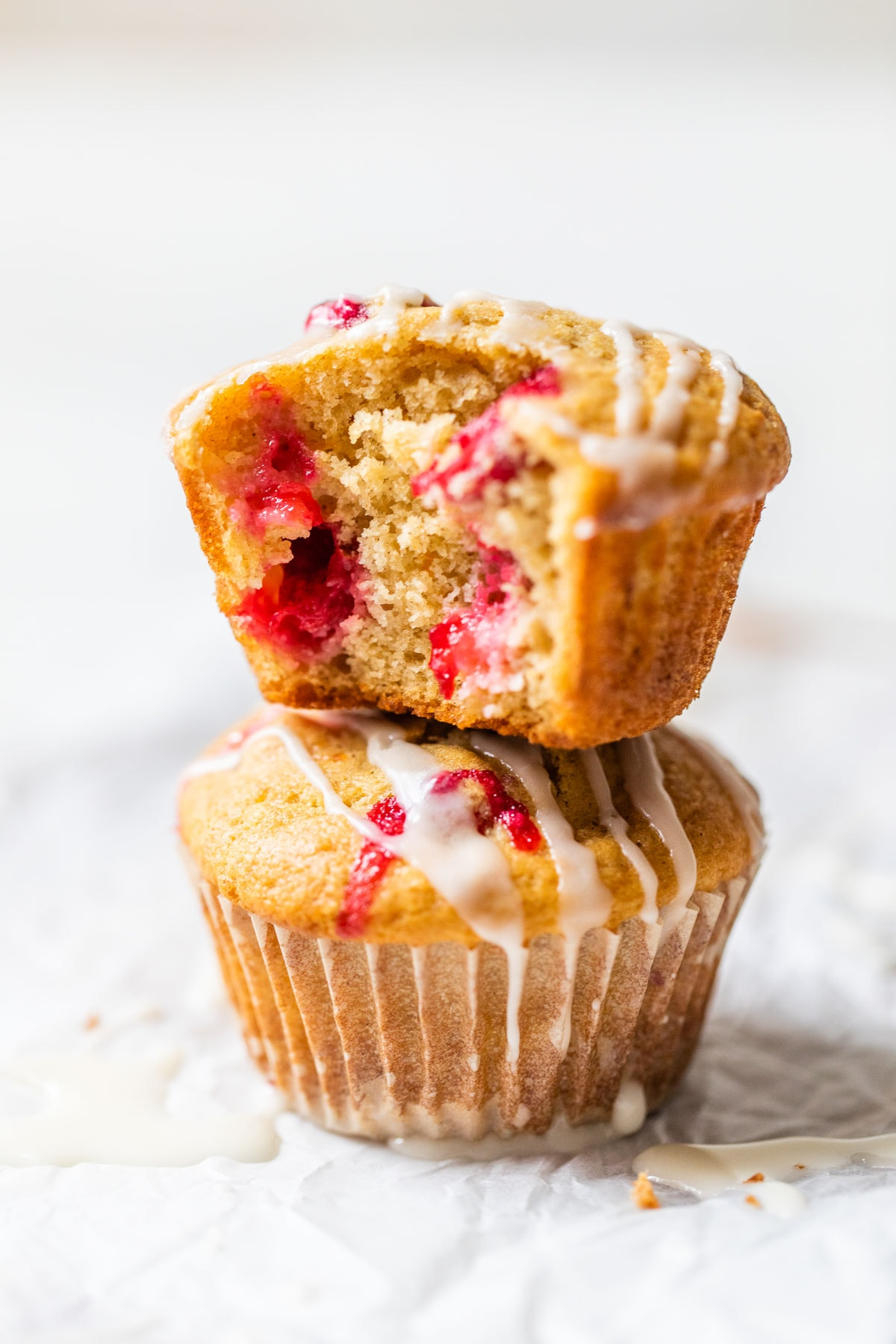 Two cranberry orange muffins