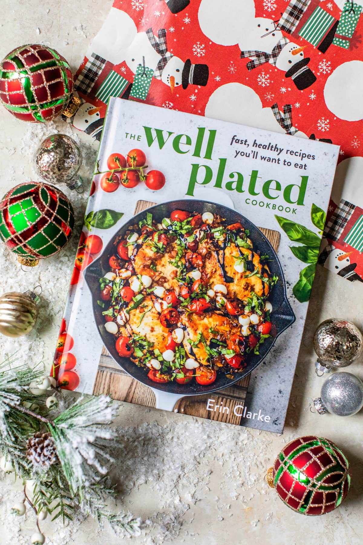 The Well Plated Cookbook with Wrapping Paper