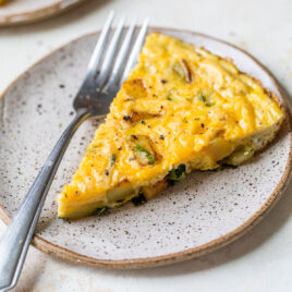 Easy potato frittata with spinach