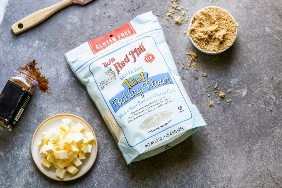 Butter, sugar, and gluten free flour