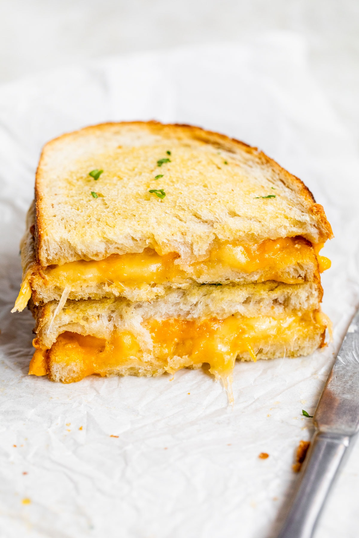 Crispy air fryer grilled cheese
