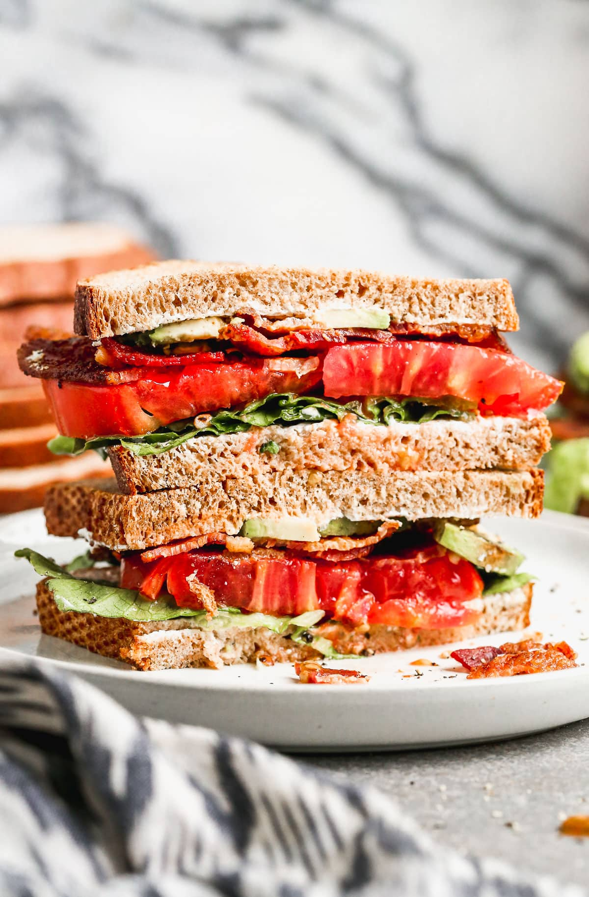 the ultimate blt sandwich with fresh tomato