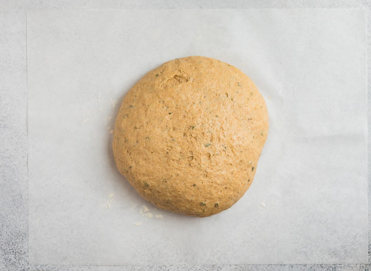 dough of rosemary olive oil bread
