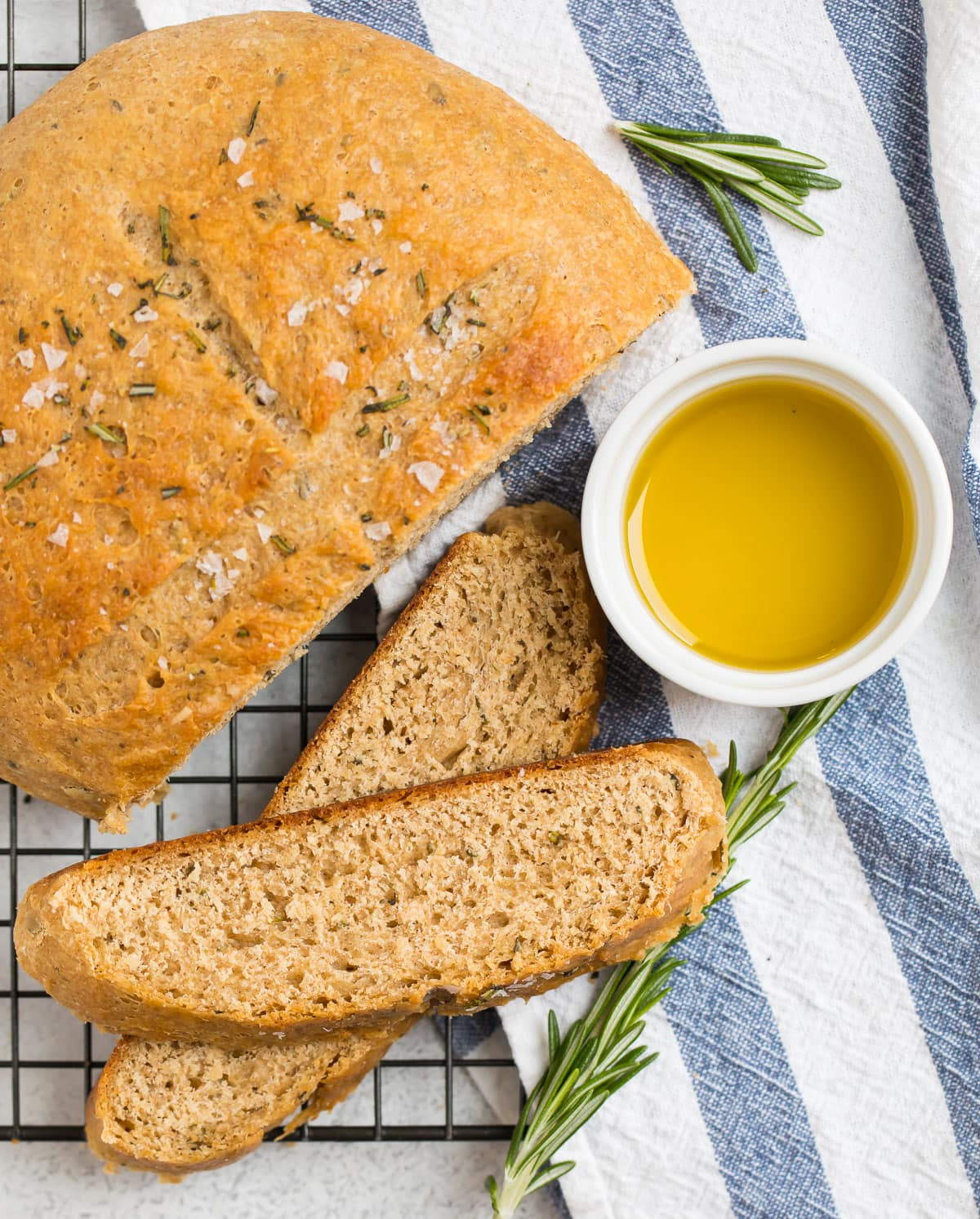 slices of rosemary olive oil bread