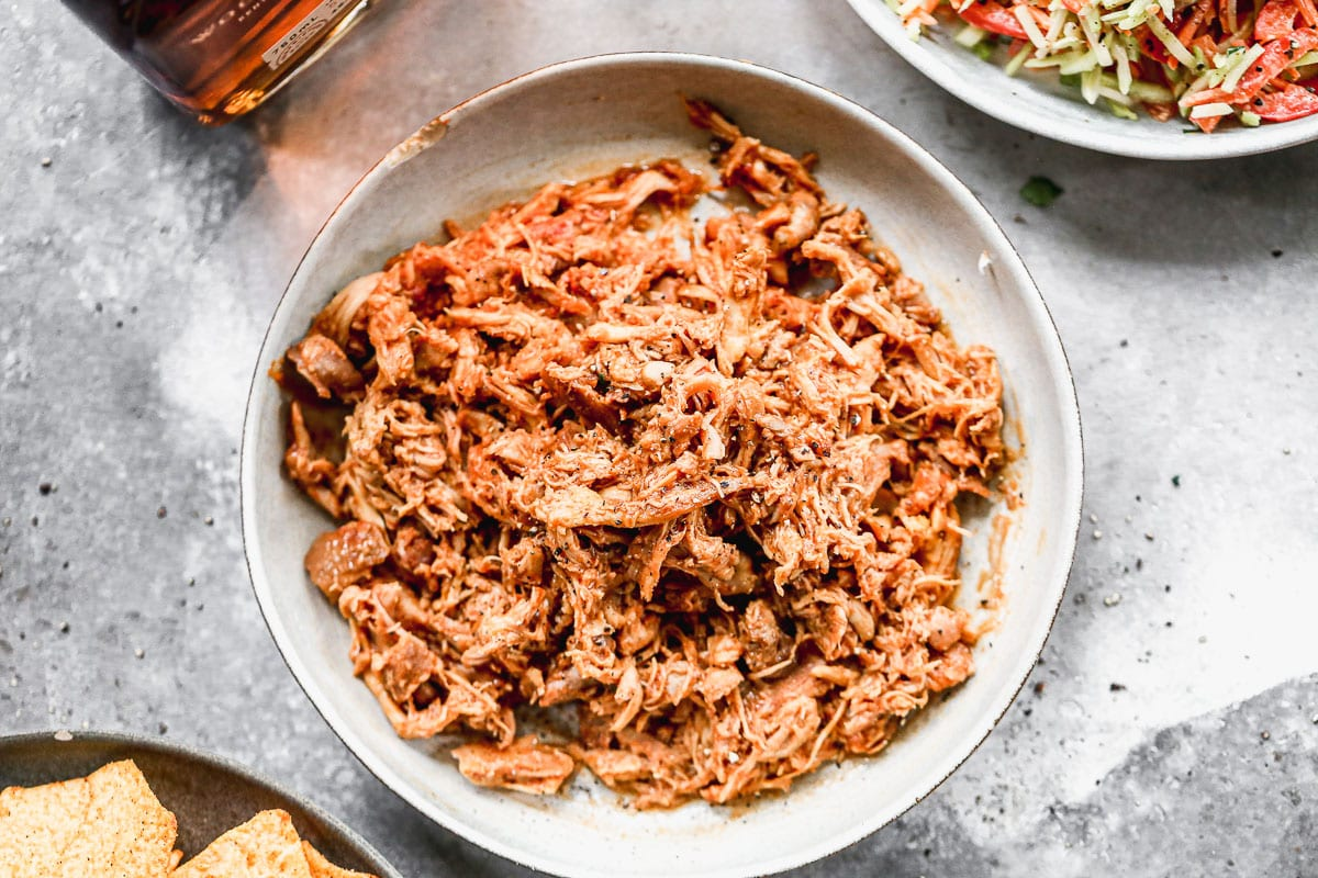 BBQ pulled chicken for sandwiches