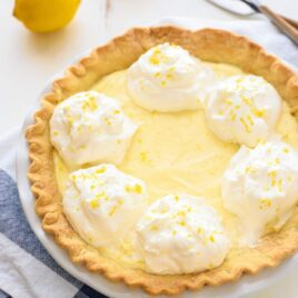 The BEST, silkiest Lemon Cream Pie. This is my grandmother's original recipe and has been in my family more than 50 years! @wellplated