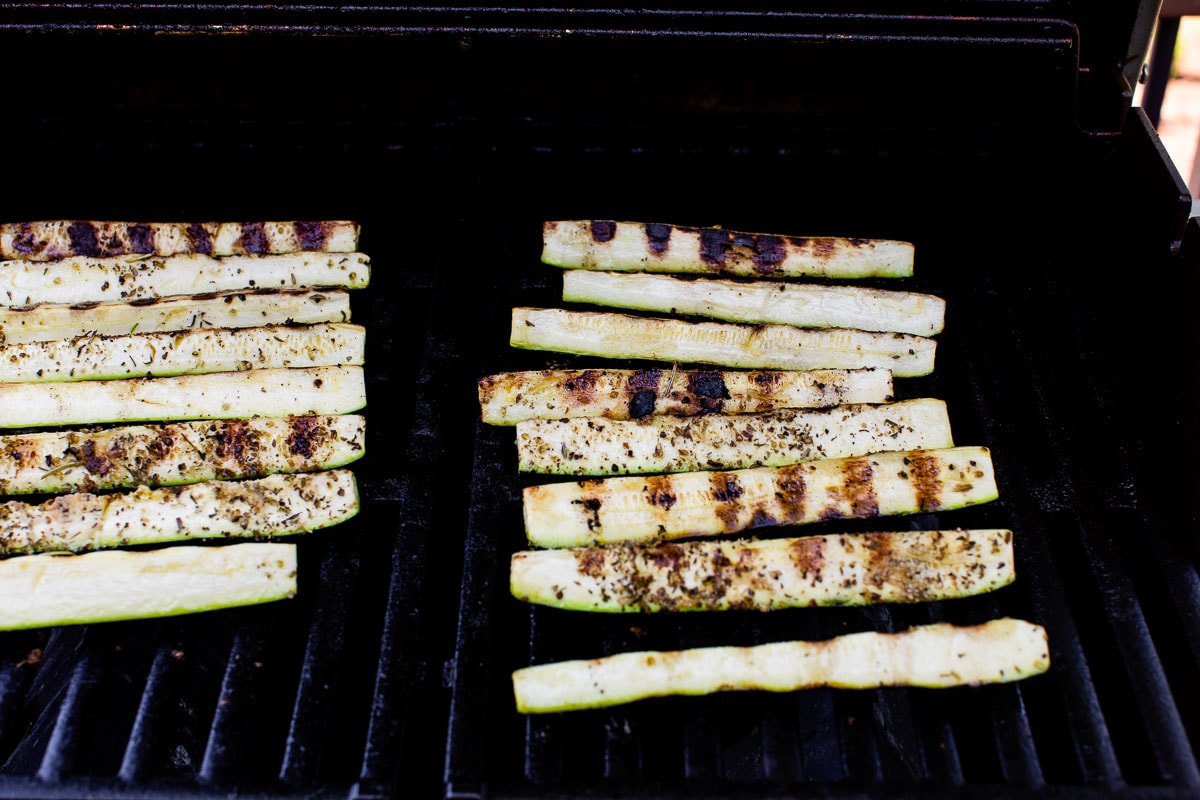 zucchini on a grill without foil