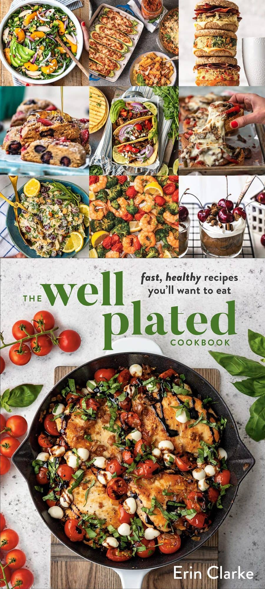 Well Plated Cookbook Photo Collage and Cookbook Cover